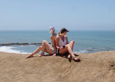 Enjoying the view somewhere on the coast of California